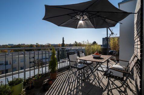 Neuwertiges Penthouse mit zwei Dachterrassen, 81549 München, Penthousewohnung